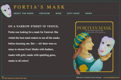 Portia's Mask website